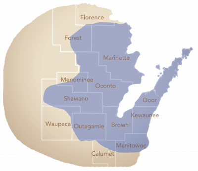 Unity Hospice Service Map