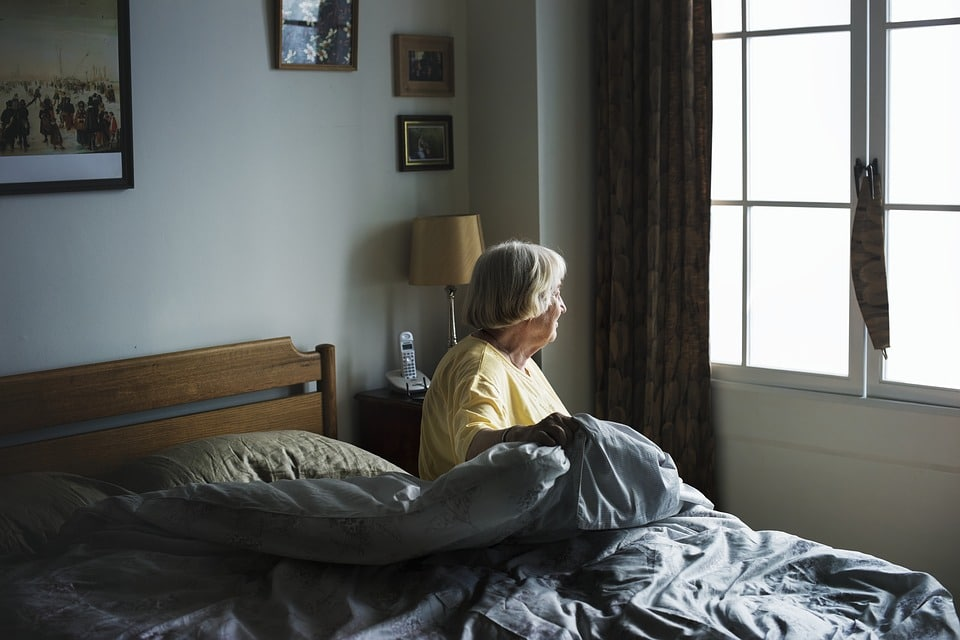 Aging Woman Alone