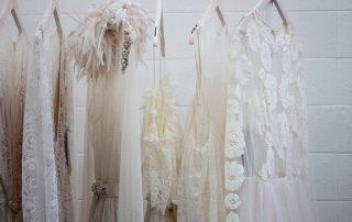 wedding gowns on hanger